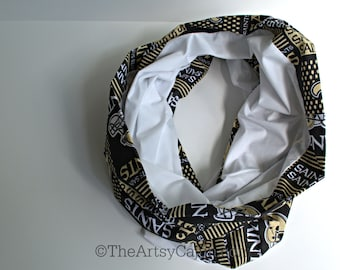 Monogrammable Saints Football Infinity Scarf, Only store to offer these!