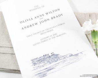 Laguna Skyline Wedding Programs (set of 25 cards)