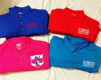Adult Uniform Polos/Monogrammed Polos - Various Colors