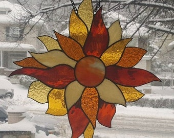 LET the SUNSHINE IN  Stained Glass Window Panel