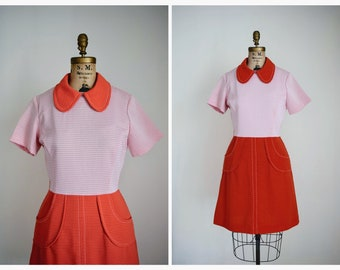 1960s Scooter Dress | Vintage 60s Mod Dress