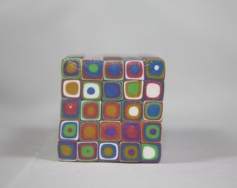 Polymer Clay Handmade Raw Klimt Cane- XL Size-Rainbow Colors