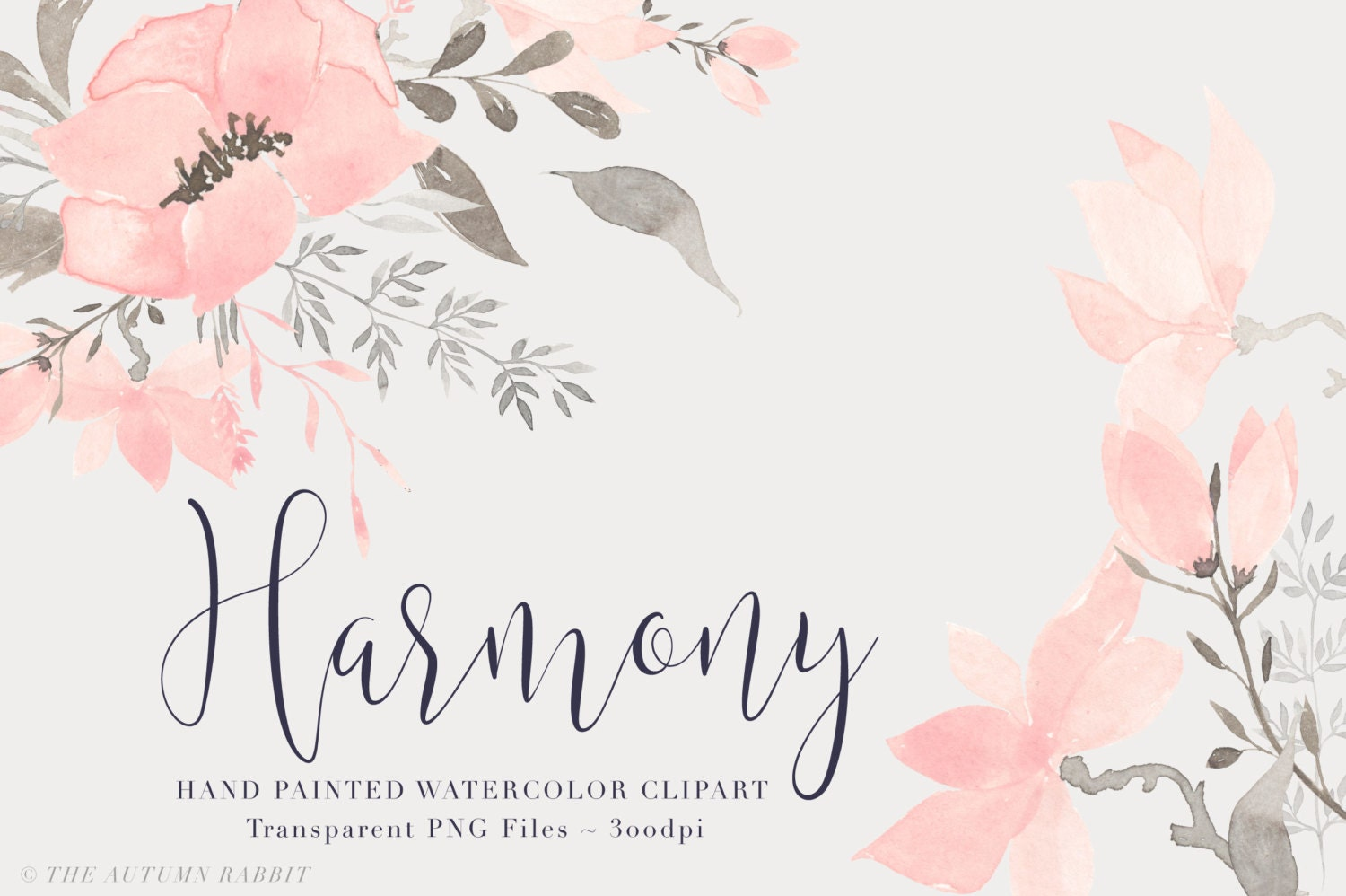 Pink watercolor flowers clipart files high res transparent - High resolution watercolor flowers ...