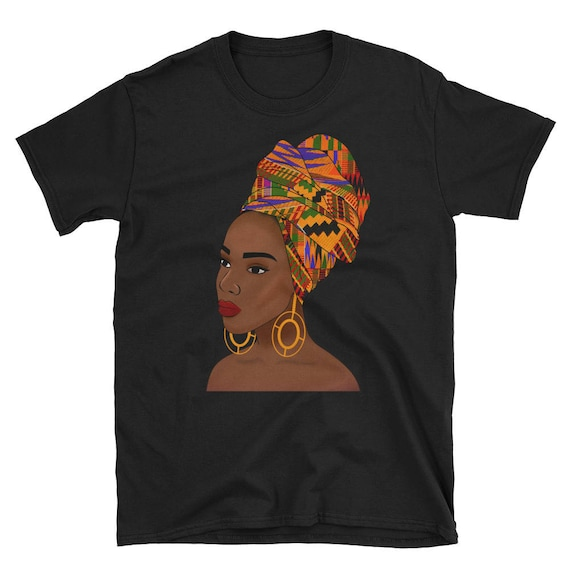 Kente Queen Short-Sleeve Unisex Tee