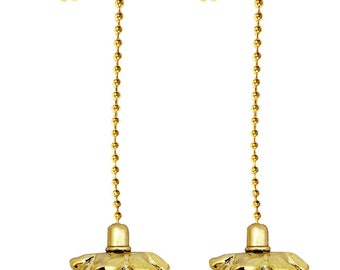 Royal Designs Fan Pull Chain – Pine Cone – Polished Brass – Set of 2
