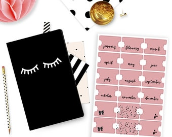 Monthly Planner Tabs