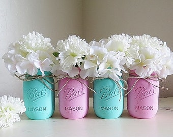 Baby Shower Decorations, Baby Shower Centerpieces, Pink and Teal Baby Shower, Girls Baby Shower, First Communion, Baptism Centerpieces