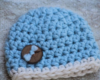 Baby gift, Baby shower, Baby boy hat, Baby shower gift, crochet baby hat, Newborn photo prop, Baby boy gift,  New baby gift, Newborn hat