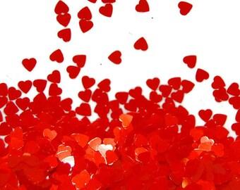Tangerine Glitter, SOLVENT RESISTANT, Glitter HEARTS, Nail Art, Nail Polish Glitter, Craft Glitter, Slime Glitter, Tangerine Nail, Tangerine