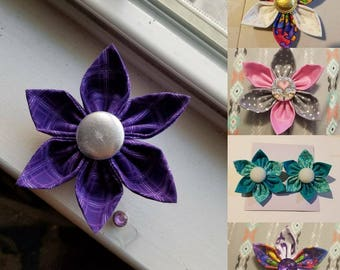 Custom flower badge holders