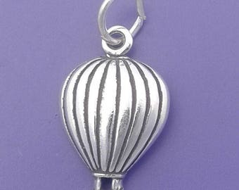 Hot Air BALLOON Charm .925 Sterling Silver - lp2016