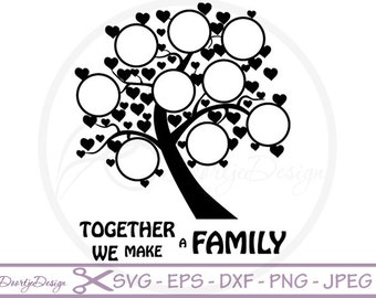 Family Tree and text SVG for cutting machines, SVG files for Cricut family tree, Vinyl cut files, dxf Family Tree, silhouette files