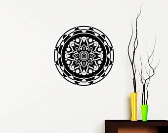 Wall Decal Mandala Vinyl Sticker- Mandala Wall Decor- Yoga Bohemian Boho Bedroom Mandala Wall Art - Home Decor ba30