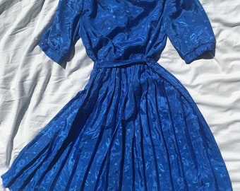 Vintage Woman's Royal Blue Dress
