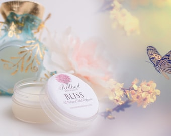 BLISS Solid Perfume Fragrance All Natural Vegan Perfume Balm  .50 oz  Sweet Floral with rich Sandalwood