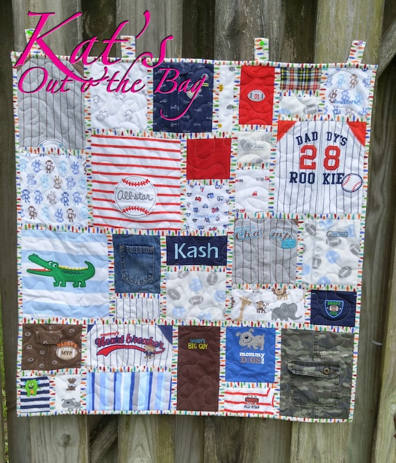Memory Quilt Baby Clothes Quilt First Year Clothes Quilt