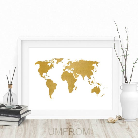 Gold world map print gold map print white and gold world gold world map print gold map print white and gold world map world map wall art large world map world map poster world map art gumiabroncs Choice Image