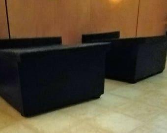 Solid Oak speaker stands. 90.00 per set