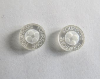Small button * white with inscription Foursome