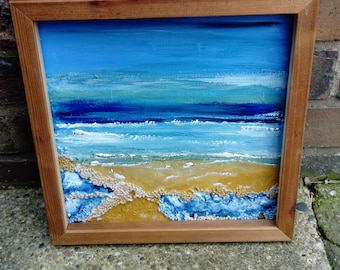 Blue waters Hand Painted Picture