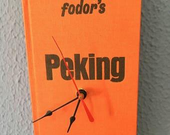 Fodor's Peking Vintage Tourist Guide Book Clock