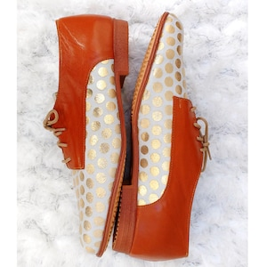 Women derby shoes, comfortable daily use leather shoes, lace up shoes