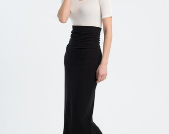 NEW Long Skirt / Black Skirt / Casual Skirt / Loose Skirt / Maxi Skirt / Summer Skirt / Party Skirt / Marcellamoda - MP1020