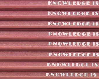 KNOWLEDGE IS POWER pencils