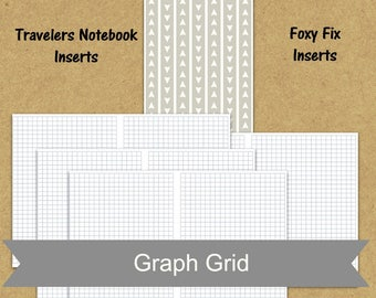 B6 insert TN insert, graph paper planner insert, printable planner insert, pdf planner pages, weekly agenda