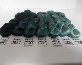 Green English silk embroidery thread