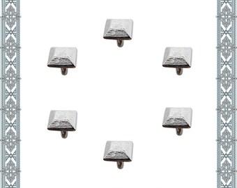 24 Rivets rivets silver plated rivets collars clothing rivets Zierniete Stud