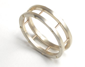 Custom made Cage Ring, custom wedding band, unique wedding ring, made to order ring, Your Size and Metal Choice, one of a kind, custom ring