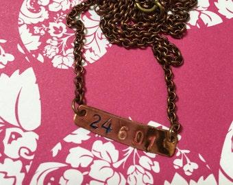 24601 Les Mis Necklace