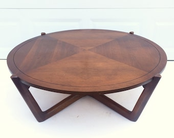 Mid Century Circular Coffee Table By Lane Furniture