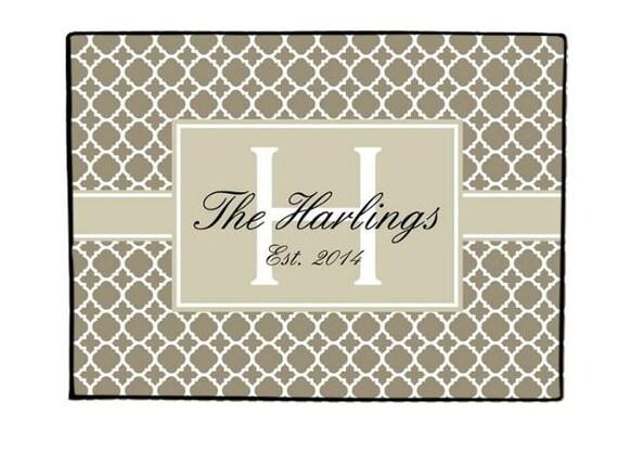 Personalized Door Mat Doormat Monogrammed Custom Rug Monogram Welcome Front Door Mat Housewarming Gift Wedding Gift Ideas Hostess
