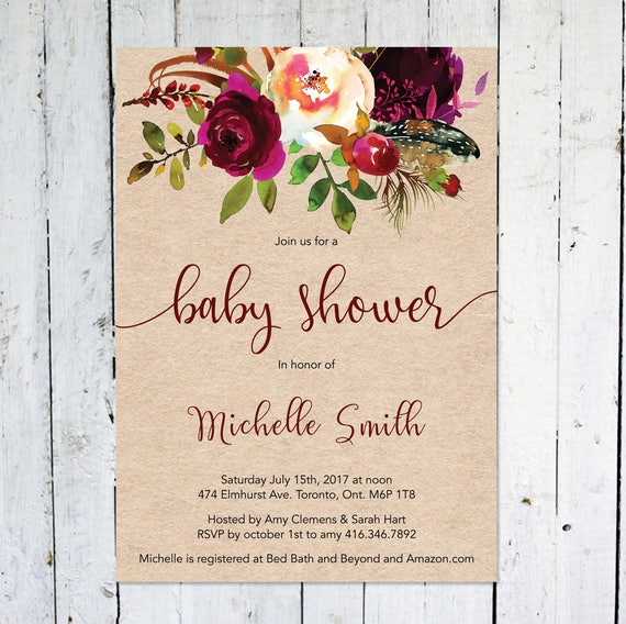 Baby shower invitation fall bridal shower invitation rustic like this item stopboris Images