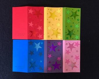 NEW STOCK! Six Rainbow Card Pack #2