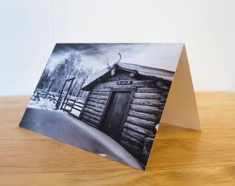 Greeting Card Pack - 5 x 7 inch Folded  - The Corral in Winter, R Lazy S Ranch, Wyoming