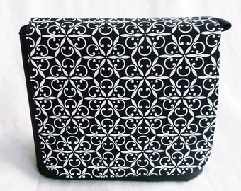 Black white Messenger Bag,Computer bag by Fun Prints Colorado