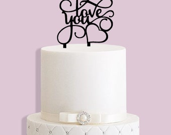 Love You Cake Topper