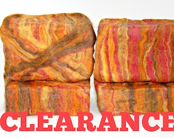CLEARANCE: CITRUS PATCHOULI - Felted 4 oz Handcrafted Cold Process Soap, 100% Merino Wool