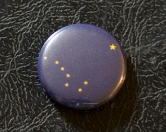 """1"""" Alaska flag button, state, pin, badge, pinback"""