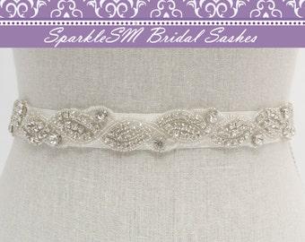 Crystal Bridal Sash, Rhinestone Belt, Wedding Sash, Jeweled Bridal Sash, Bridesmaids Sash, Bridal Dress Sash, Bridal Belt, Crystal Belt