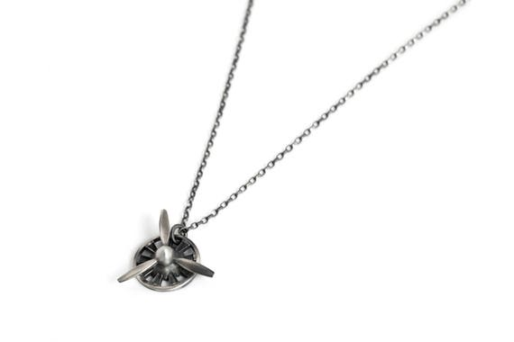 Spinning propeller necklace for men 3 blade propeller spinning propeller necklace for men 3 blade propeller pendant necklace sterling silver great pilot gifts for men mozeypictures Gallery