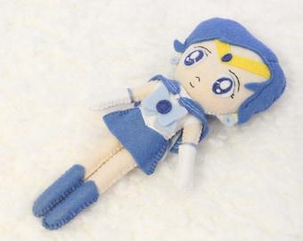 Sailor Mercury Handmade Felt Toy Sailor Moon