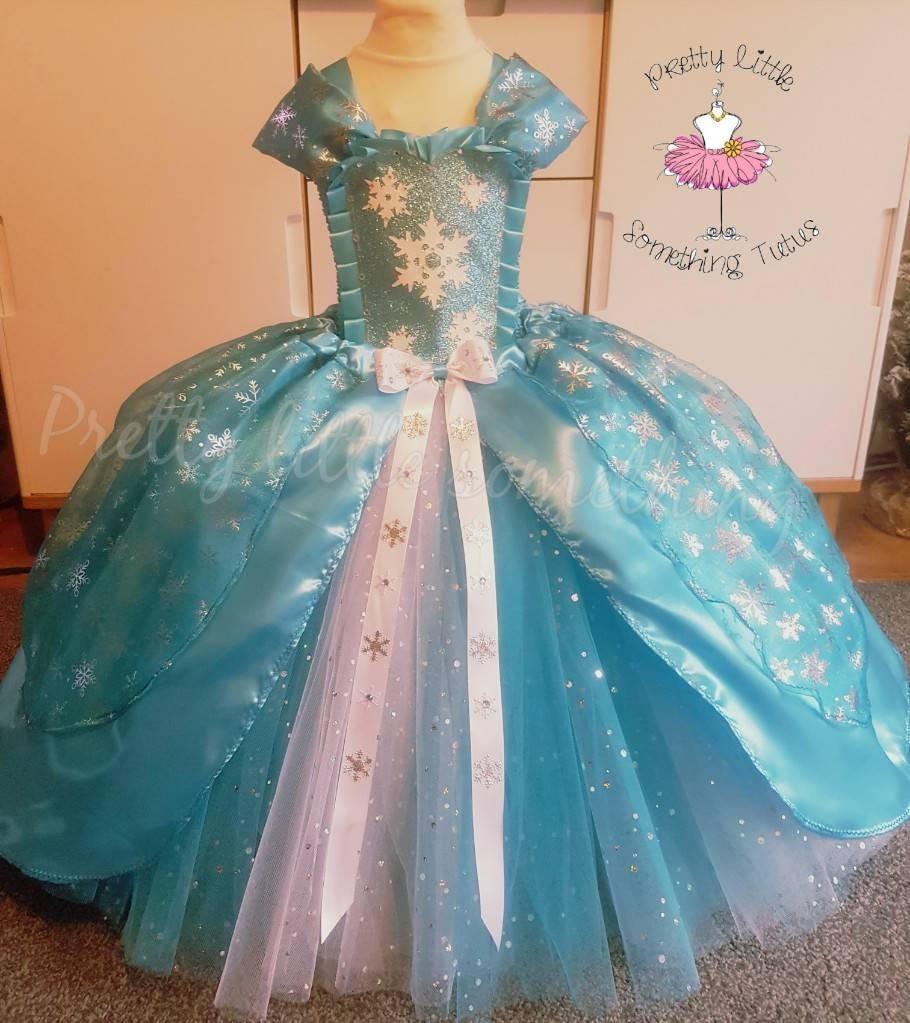 Ice princess tutu dress snow queen dress princess dress