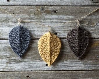 Knitting Pattern - Autumn Leaves - Leaf - Knit Leaves - Knitted Leaves - Leaves - Pattern - Knitting - PDF Pattern - Instand Download