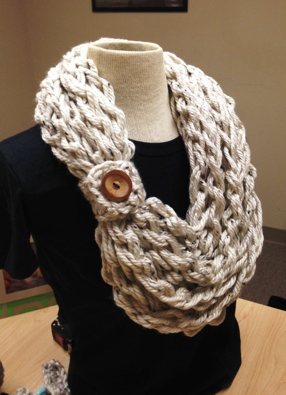 Quick and Easy Crochet Pattern Hand Crochet Bulky Rope Scarf with ...