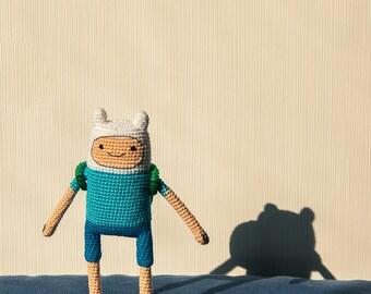 "Crochet Pattern of Finn the Human from ""Adventure Time"" (Amigurumi tutorial PDF file)"