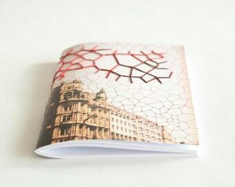 Embroidered City Notebook. Edinburgh, Scotland